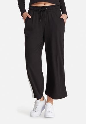 Daisy Street Side Stripe Pants Trousers Black & White