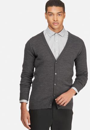 Basicthread Basic Cardigan Knitwear Charcoal