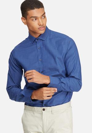 Basicthread Slim Fit Formal Shirt Blue