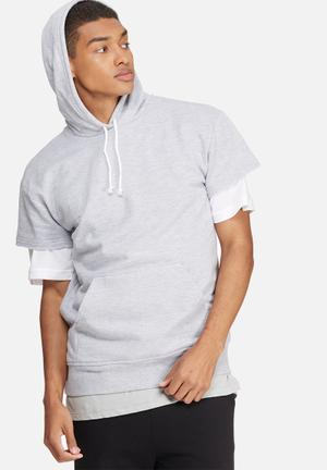 Basicthread Cap Sleeve Pullover Hoodie Hoodies & Sweatshirts Grey