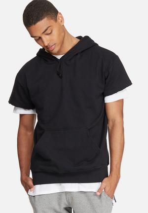 Cap sleeve pullover hoodie