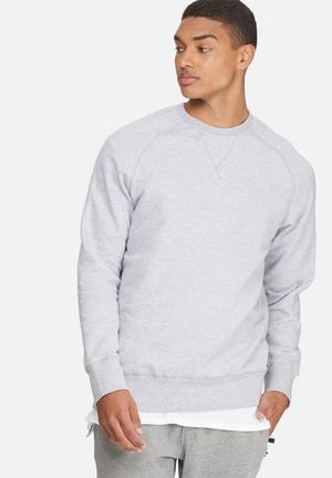 Basicthread Basic Pullover Crew Sweat Hoodies & Sweatshirts Grey