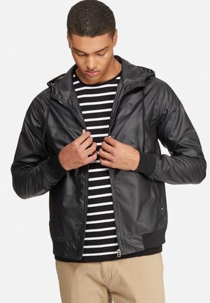 Basicthread Rib Windbreaker Jackets Black