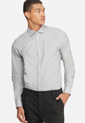 Basicthread Slim Fit Formal Shirt Grey