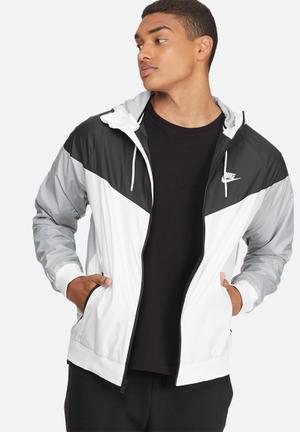 Nike Nike Windrunner Hoodies & Sweatshirts White, Black & Grey
