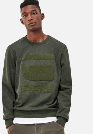 G-Star RAW Yster Sweater Hoodies & Sweatshirts Green