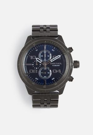 Diesel  Padlock Watches Grey & Blue
