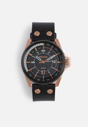 Diesel  Rollcage Watches Black & Rose Gold
