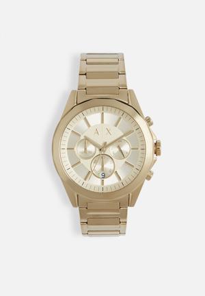 Armani Exchange Drexler Watches Gold