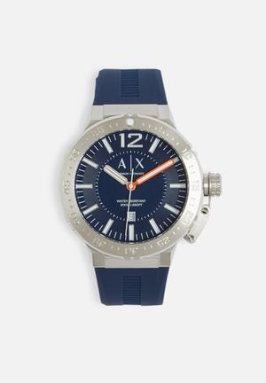 Armani Exchange Jax Watches Navy & Silver