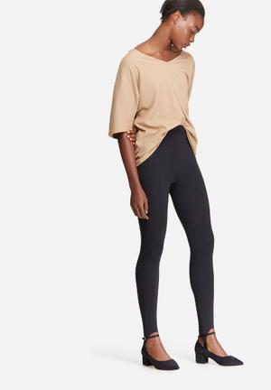 Dailyfriday Stirrup High Waisted Leggings Trousers Black