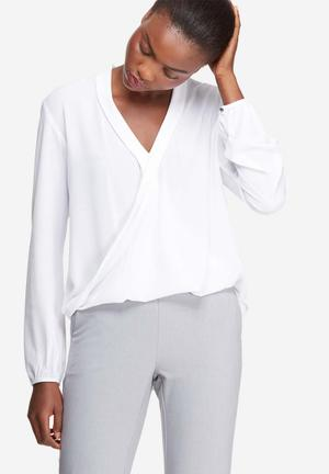 Dailyfriday Wrap Front Blouse White