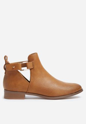 ONLY Babette Ankle Boot Cognac