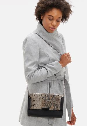 Dailyfriday Denne Clutch Bags & Purses Grey & Black