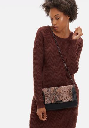 Dailyfriday Denne Clutch Bags & Purses Pink & Black