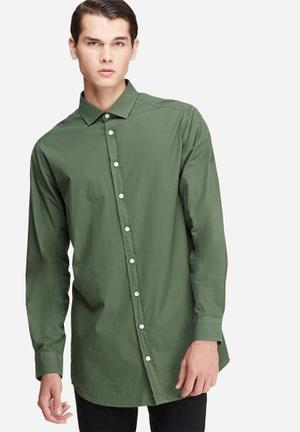 Basicthread Longline Shirt Olive