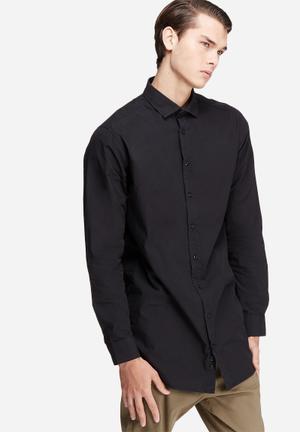 Basicthread Longline Shirt Black