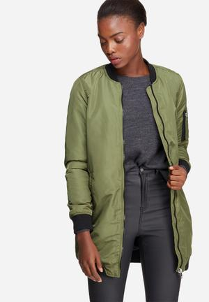 Vero Moda Dicte 3/4 Bomber Jacket Khaki