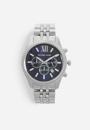 Michael Kors Lexington Watches Silver & Blue