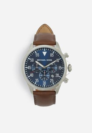 Michael Kors Gage Watches Silver & Blue