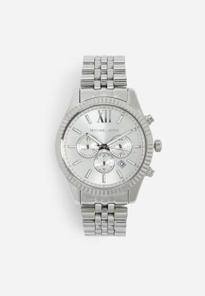 Michael Kors Lexington Watches Silver