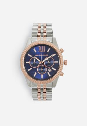 Michael Kors Lexington Watches Silver , Gold & Navy