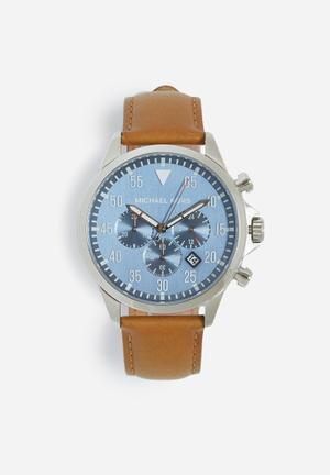 Michael Kors Gage Watches Blue & Brown