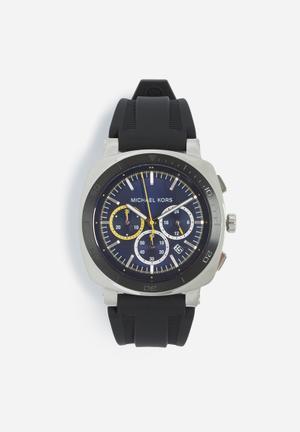 Michael Kors Bax Watches Black & Silver