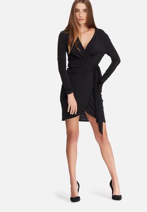 Dailyfriday Wrap Mini Dress Occasion Black