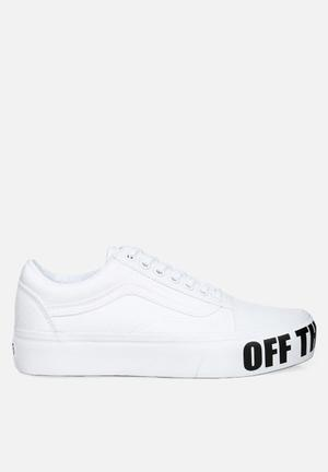 Vans Old Skool Platform Sneakers White