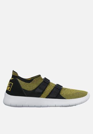 Nike Sock Racer Ultra Flyknit Sneakers  Black/ White - Yelllow Strike