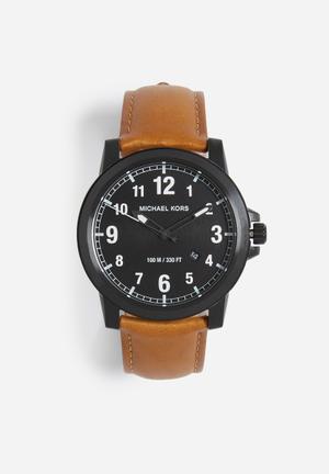 Michael Kors Paxton Watches Black & Brown