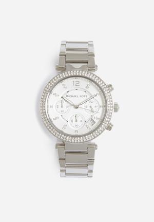 Michael Kors Parker Watches Silver