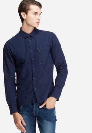 Jack & Jones Core Moon Slim Fit Shirt Navy