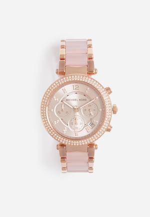 Michael Kors Parker Watches Rose Gold & Blush