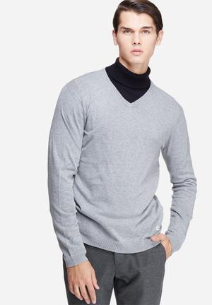Only & Sons Alexander V-neck Knit Knitwear Grey