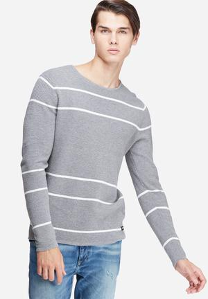 Only & Sons Absalon Crew Knit Knitwear Grey