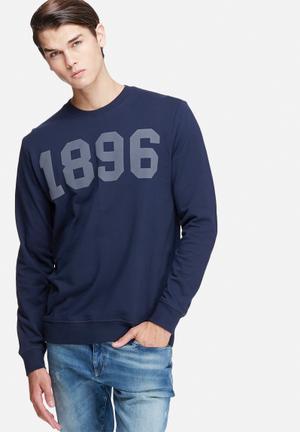 Only & Sons Kennedy Crew Sweat Hoodies & Sweatshirts Navy