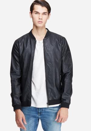 Only & Sons Nis Biker Jacket Black