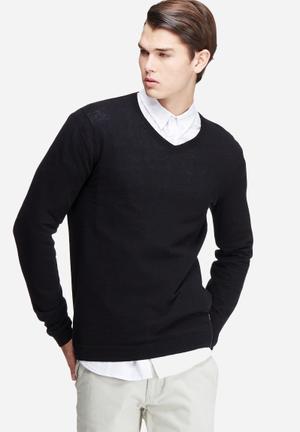 Only & Sons Alexander V-neck Knitwear Black