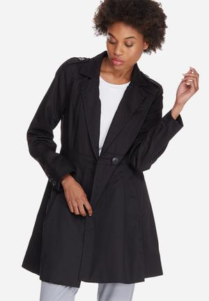 Vero Moda Michelle Abby Trench Coat Jackets Black