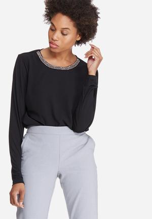Vero Moda Sadie Top Blouses Black