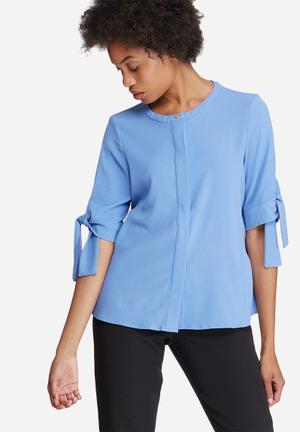 Vero Moda Gertrud Top Blouses Blue