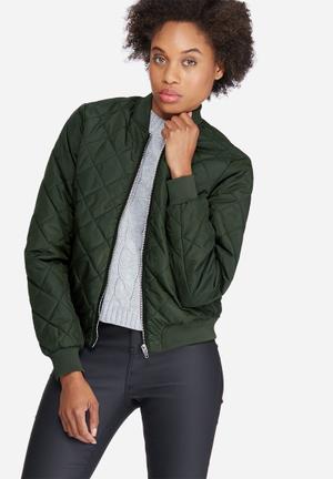 Vero Moda Yoyo Bomber Jacket Green