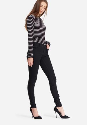 Jacqueline De Yong Holly Low Skinny Jeans Black