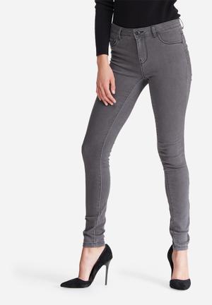 Jacqueline De Yong Ulle Regular Skinny Jeans Grey