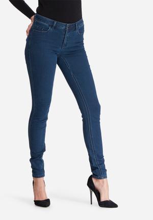 Jacqueline De Yong Holly Low Skinny Jeans Blue