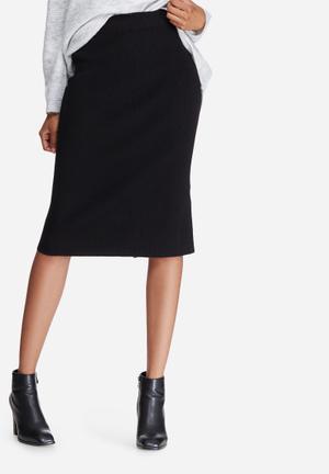 Vero Moda Glory Babette Rib Skirt Black