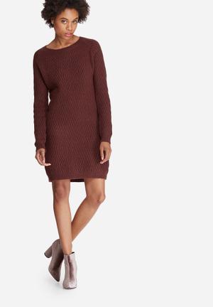 Vero Moda Posh Dress Formal Brown