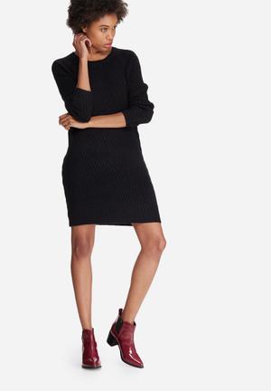 Vero Moda Posh Knitted Dress Casual Black